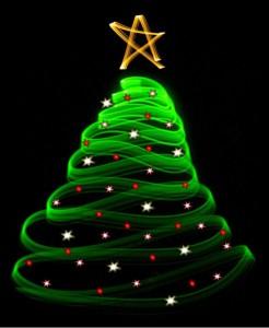Christmas tree infinity light